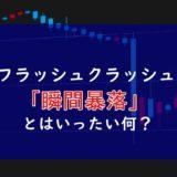 【知識】株の大暴落からみるフラッシュクラッシュとは?原因の背景にはあるスイッチがある【解説】