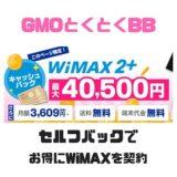 【その差5000円以上】GMOとくとくBBのセルフバックを利用してお得にWifiを契約する方法
